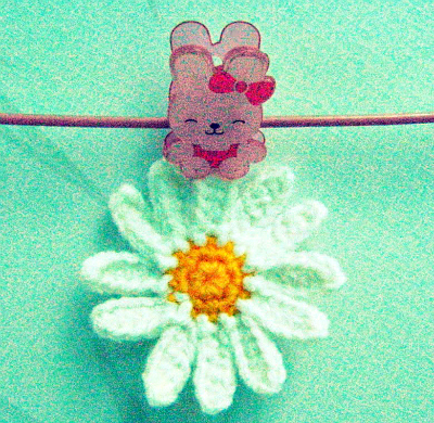 crochet small daisy applique
