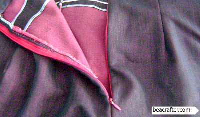 invisible zipper sewing