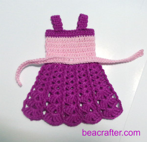 how to crochet Barbie tank dress