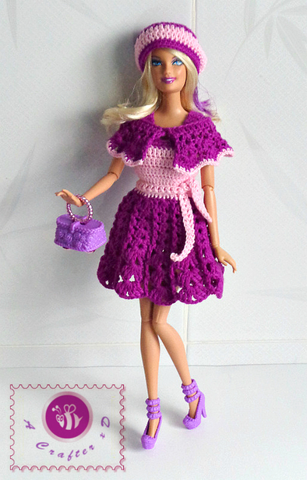 crochet Barbie doll clothing
