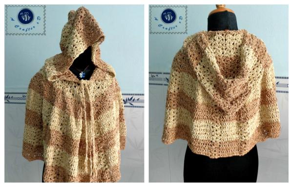 crochet hooded cape free pattern