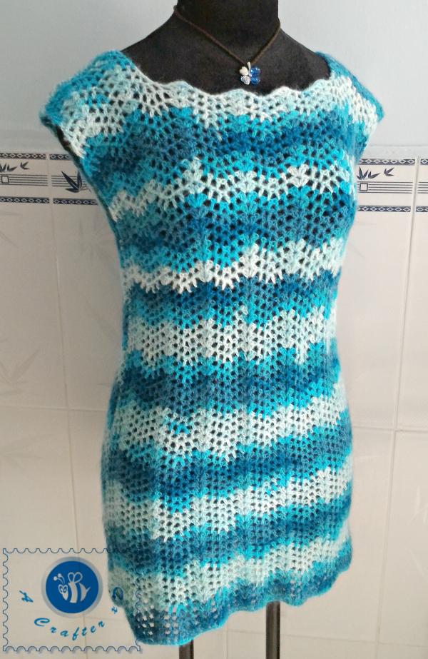 crochet chevron top