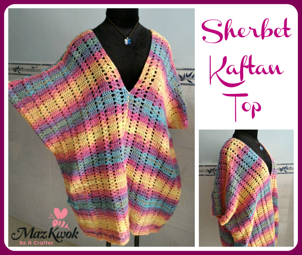 crochet caftan top