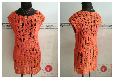crochet summer tunic
