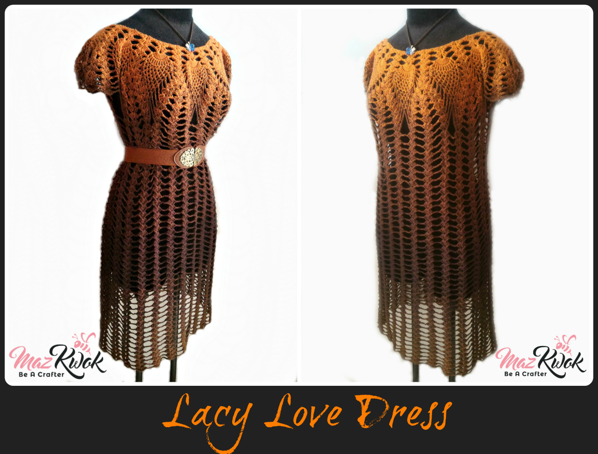 crochet lacy love dress