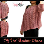 Crochet off the shoulder blouse