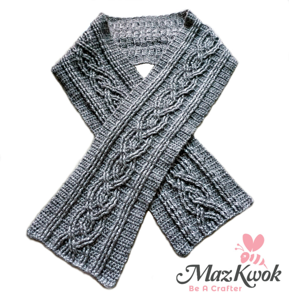crochet cable scarf free pattern