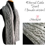 Crochet Eternal cable scarf ( female version )