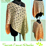 Crochet Spring Leaves poncho