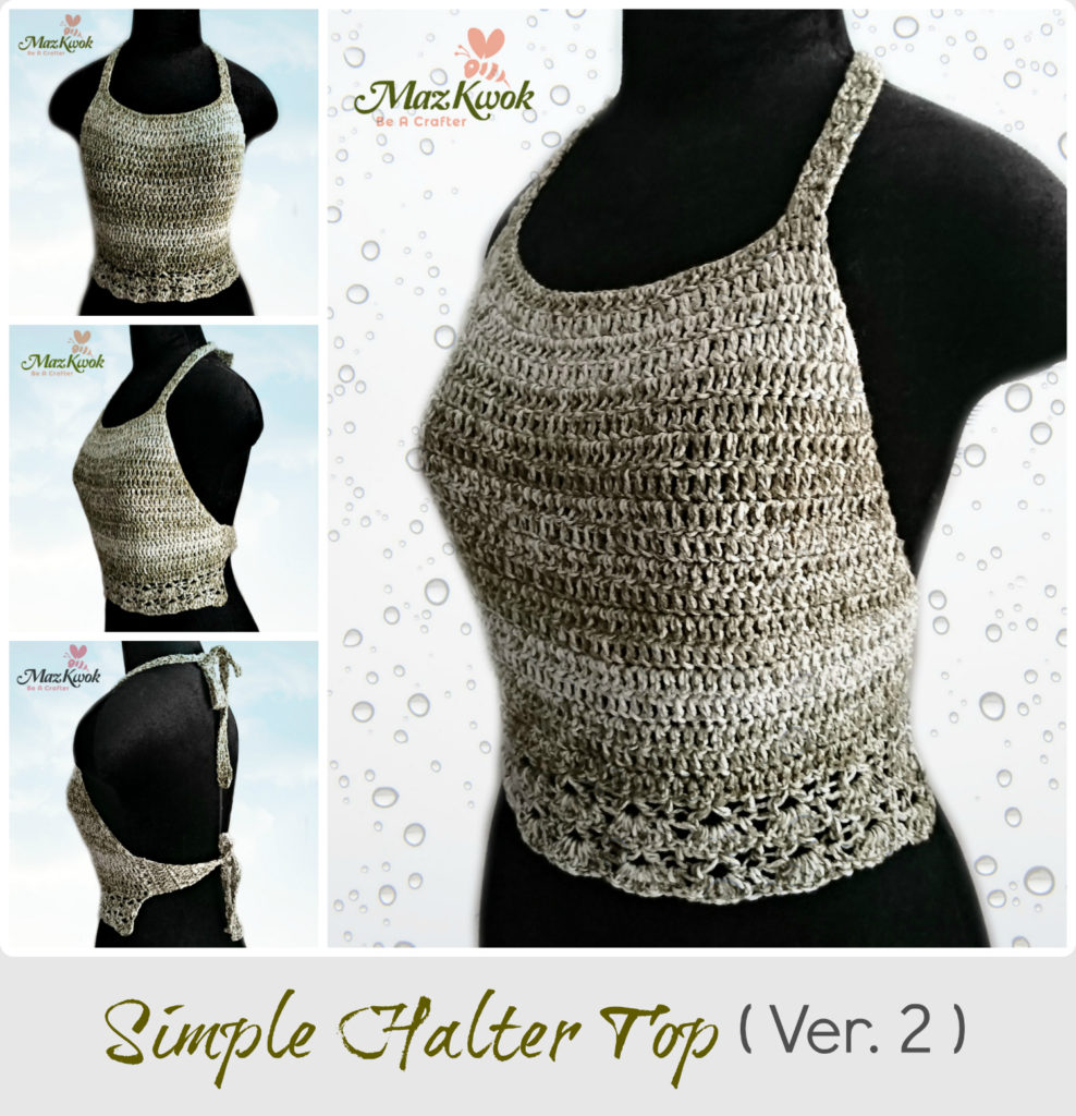 Crochet Simple halter top (version 2)