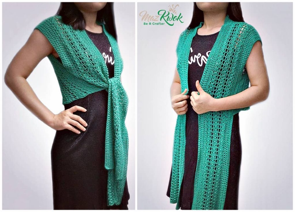 crochet tie bolero pattern