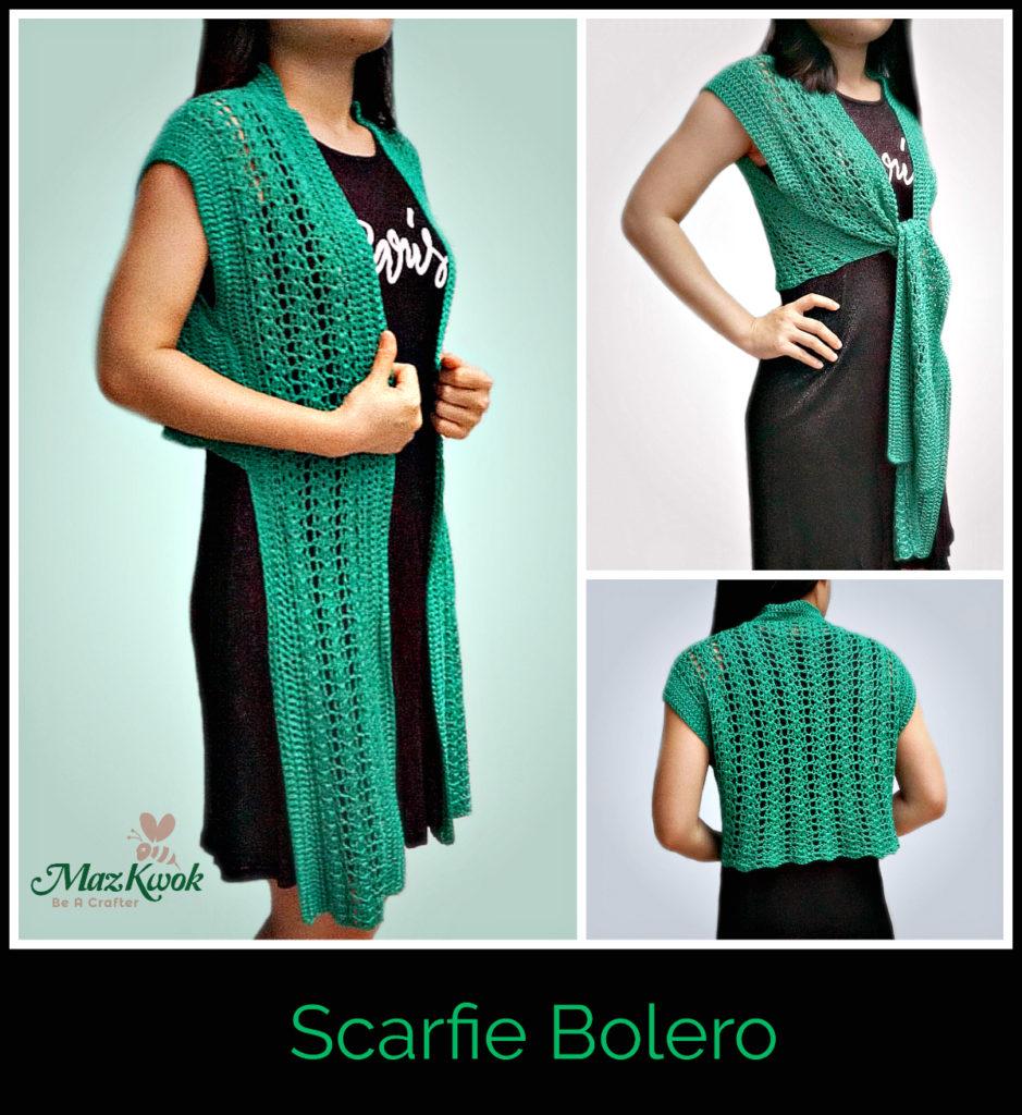 crochet scarfie bolero