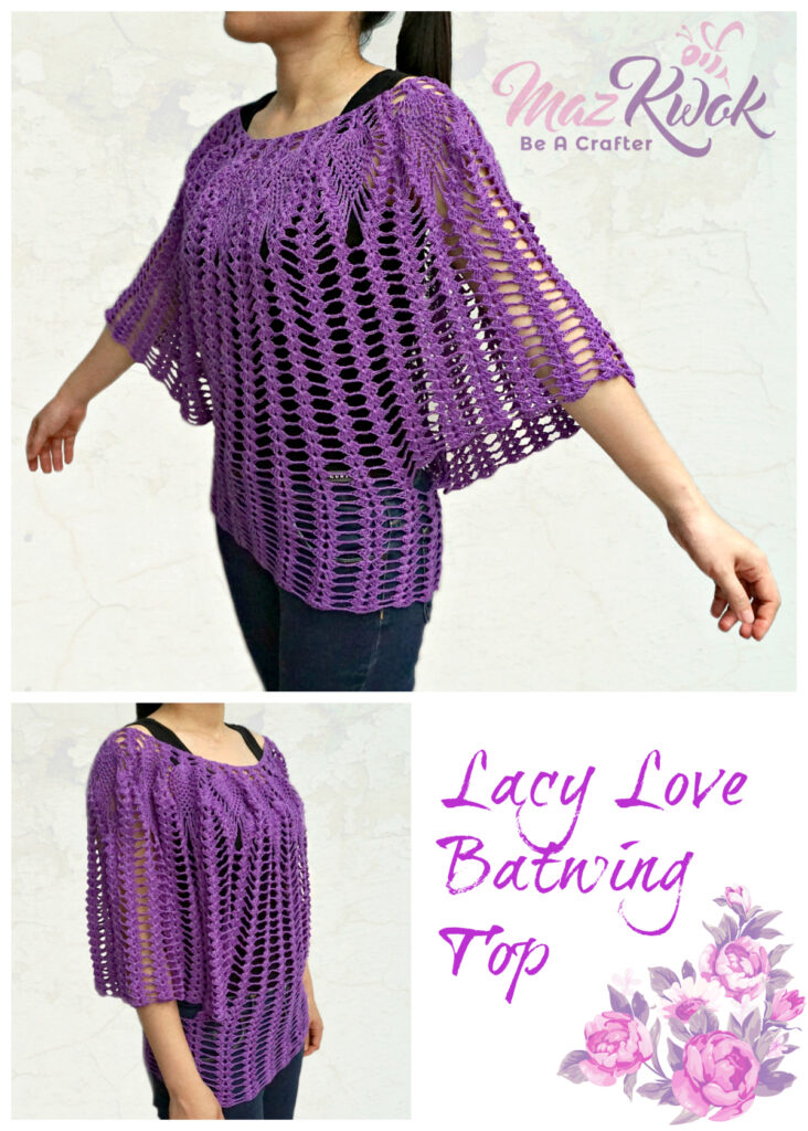 crochet batwing top