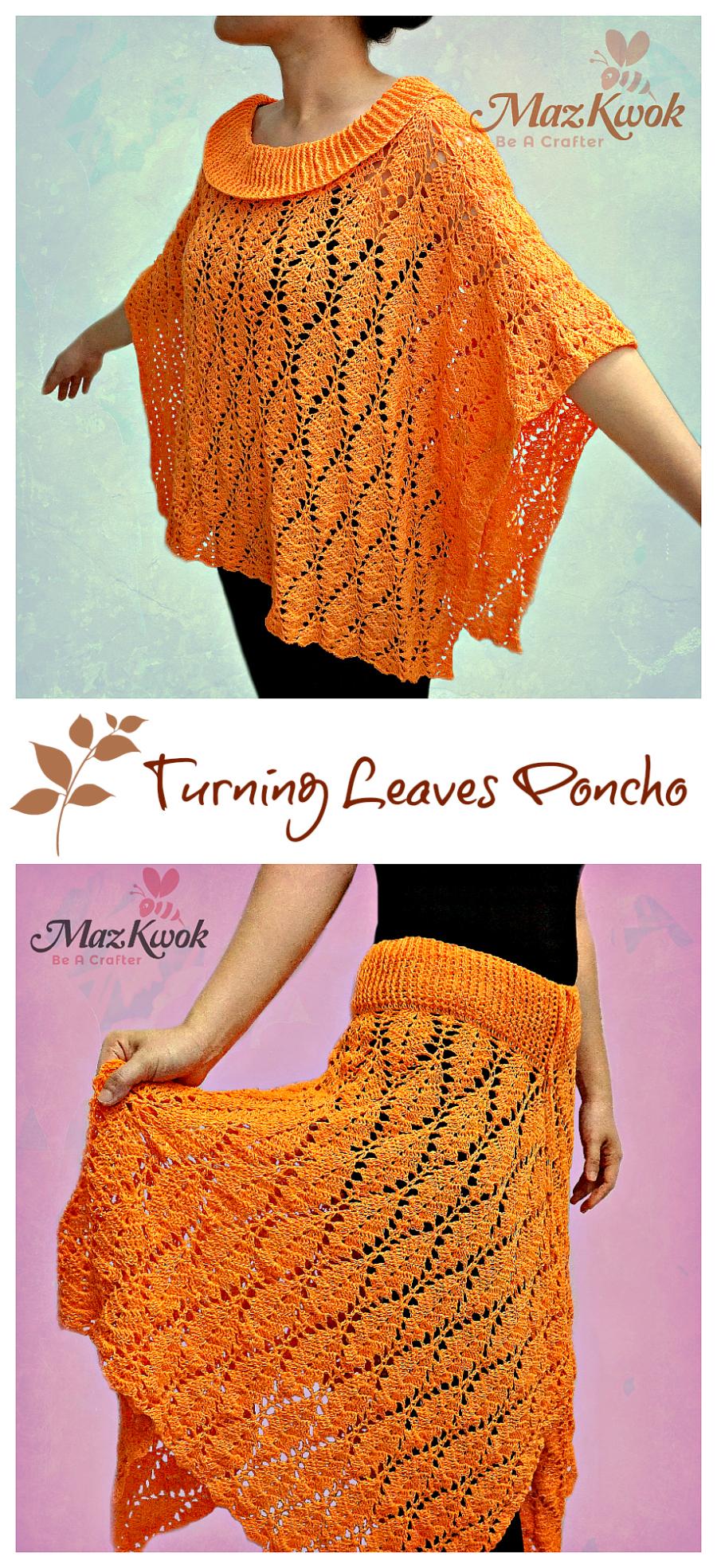 crochet fall poncho