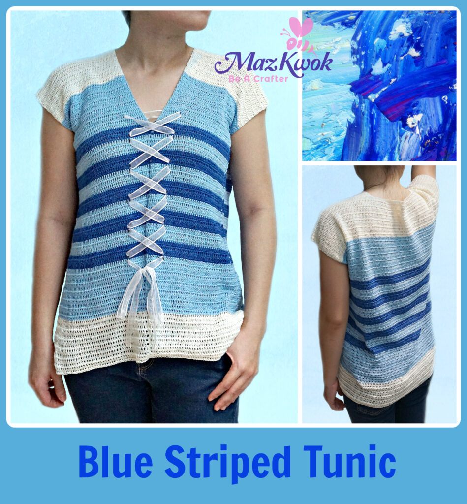 crochet striped tunic
